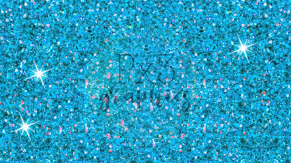Chunky ice blue glitter