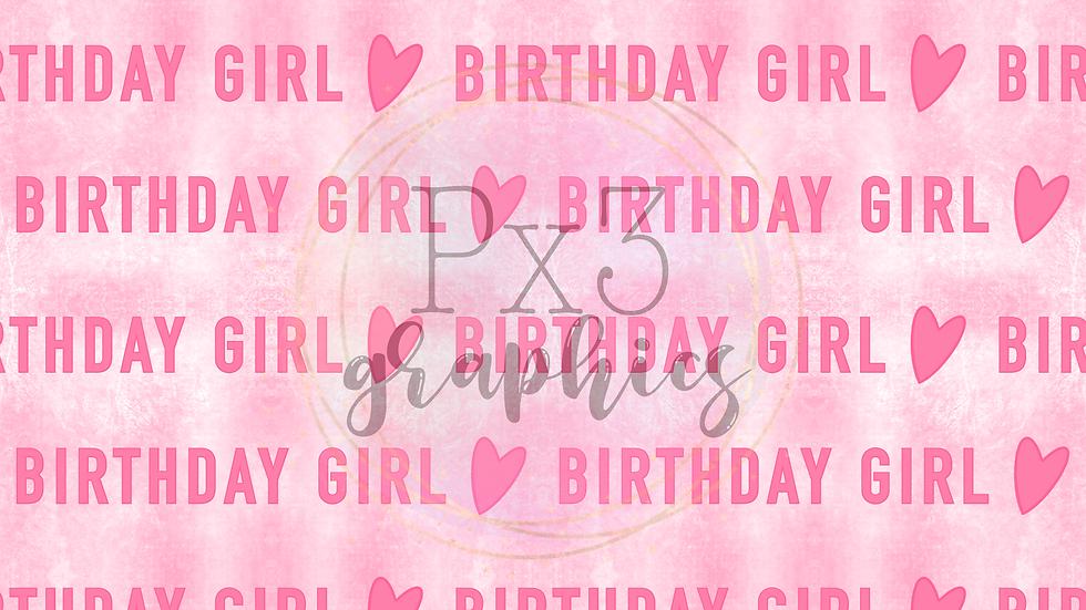 Birthday girl - grunge