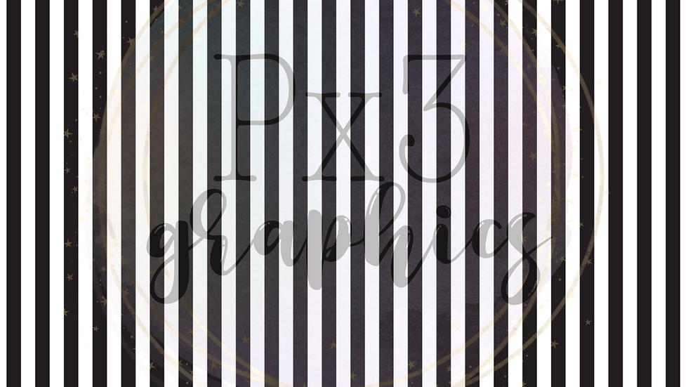 Thin black & white stripes