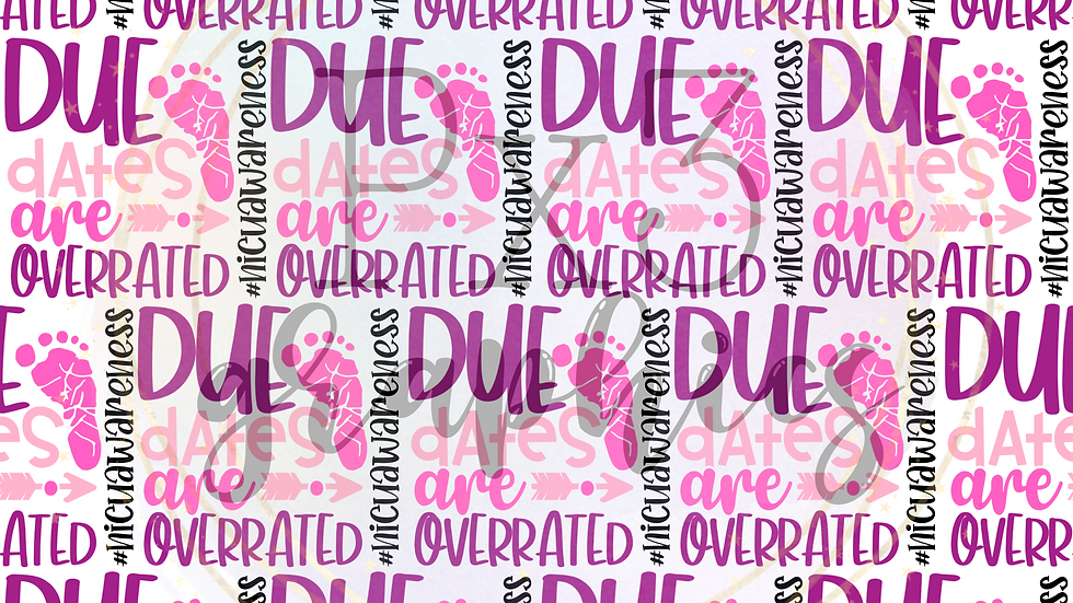 Due dates are overrated - pink
