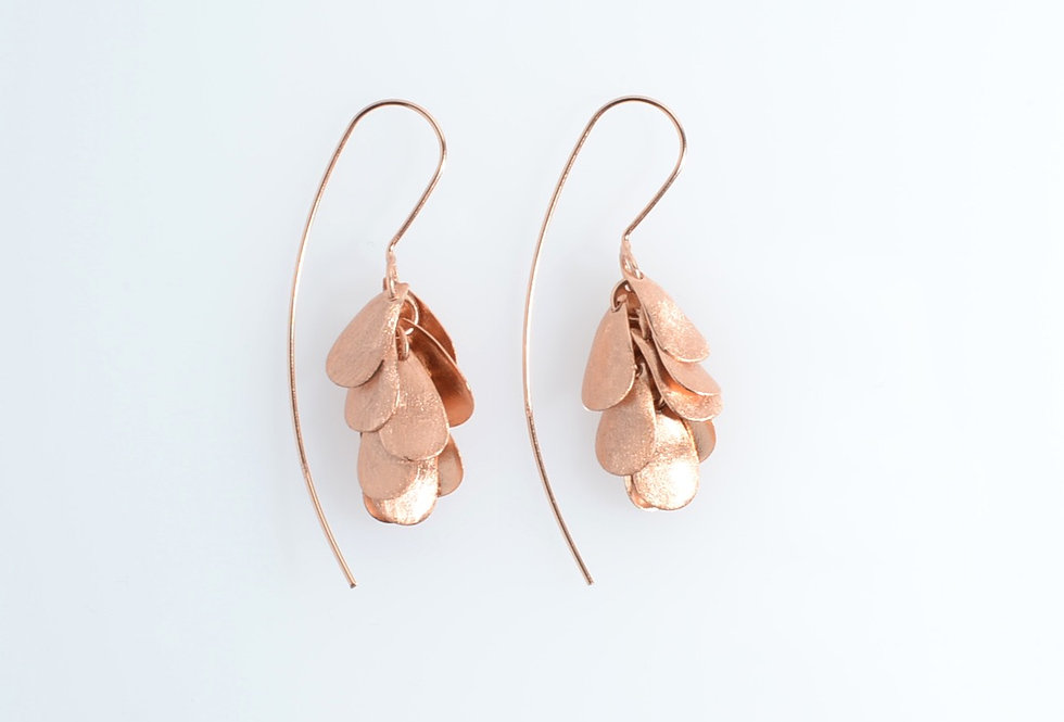 Rose Gold Dangling Tree Earrings