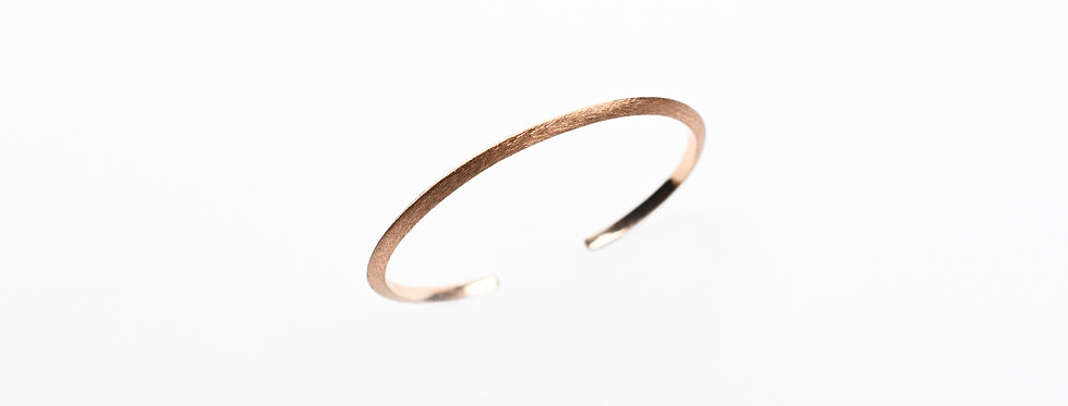 Hand-Brushed Rose Gold Cuff Bracelet | Thin