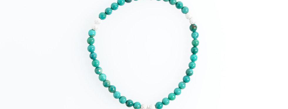 Turquoise Stardust Silver Star Charm Bracelet