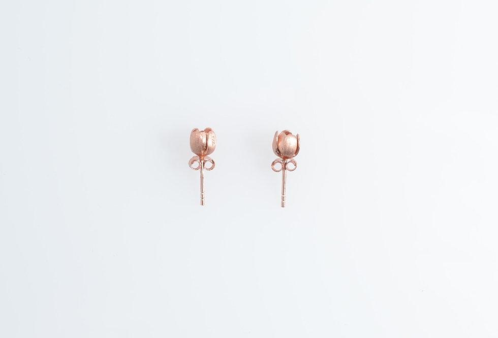Rose Gold Mini Tulips Earrings