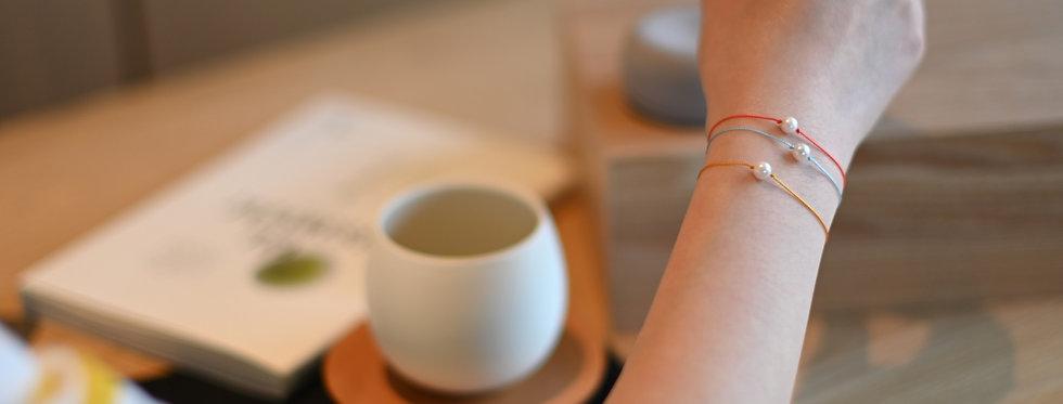 Akoya Pearl Premium String Bracelet AMBER | CORAL - Single Pearl (6mm)