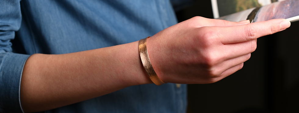 Hand-Brushed Rose Gold Cuff Bracelet | Classic