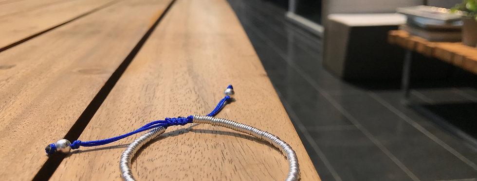 Silver Drawstring Friendship Bracelet