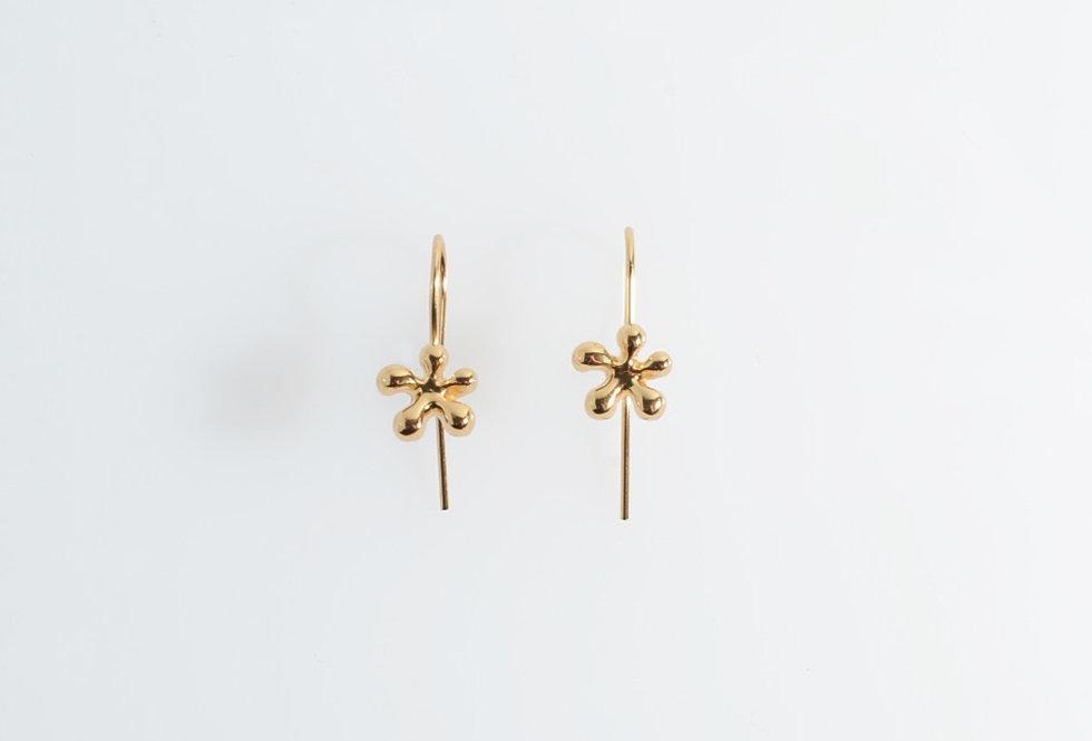 Gold Little Flower Earrings
