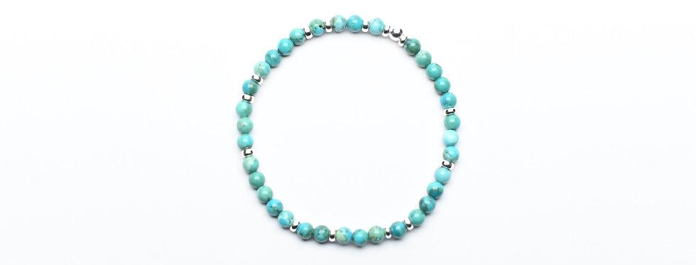 Turquoise Random Silver Bracelet