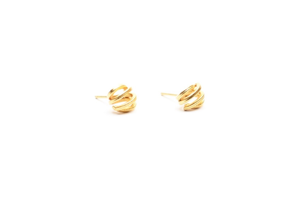 Gold Mini Spiral Earrings