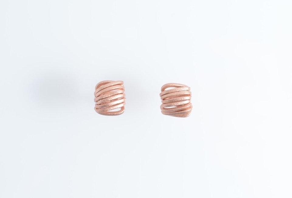 Rose Gold Spiral Earrings