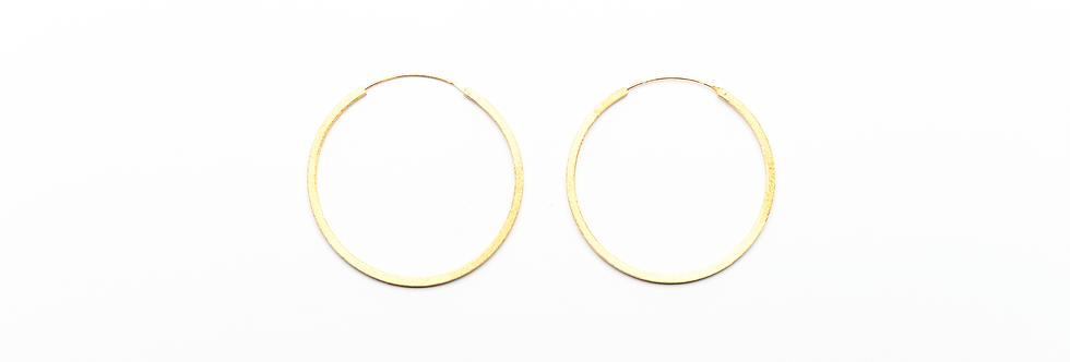 Gold Brushed Medium Hoops Earrings   45mm