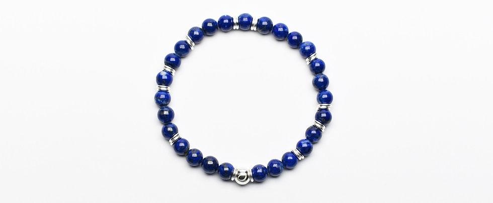 Lapis Lazuli Silver Intelligence Bracelet