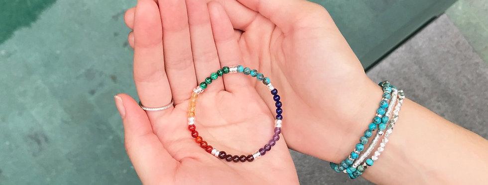 7 Chakras PALETTE | Gemstones Balancing Bracelet