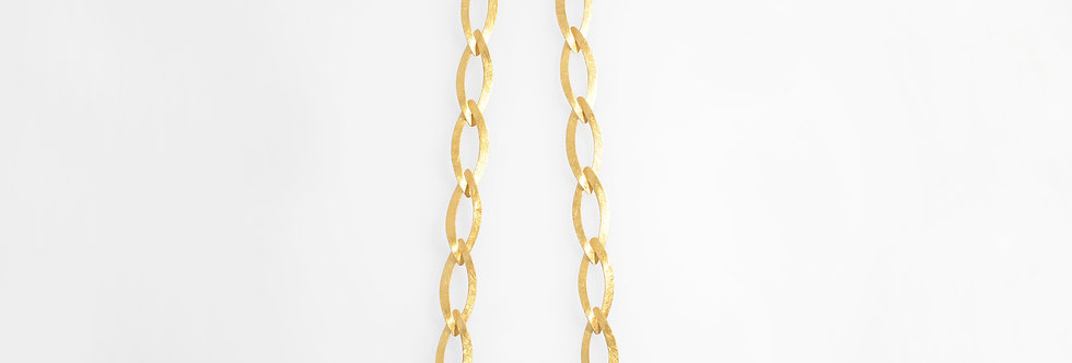 Brushed Gold Plated Leaves Necklace