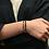 Thumbnail: 7 Chakras Rainbow | Gemstones Premium Black String Bracelet