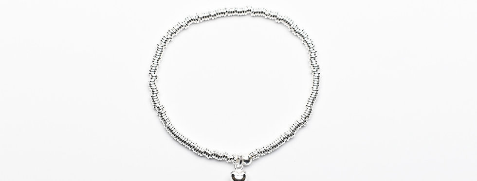 Eternal Love | Silver Sweetheart Charm Bracelet