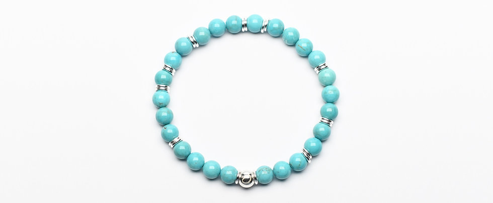 Turquoise Silver Expression Bracelet