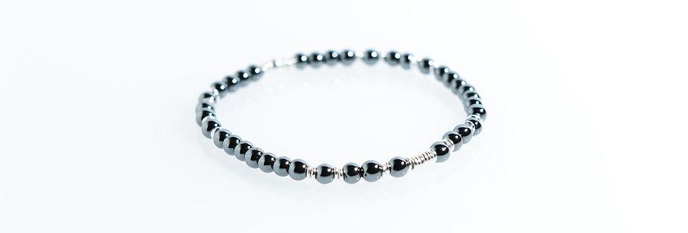 Hematites Random Silver Bracelet