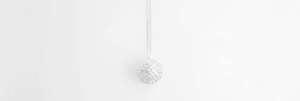 Silver Coral Pendant on Chain