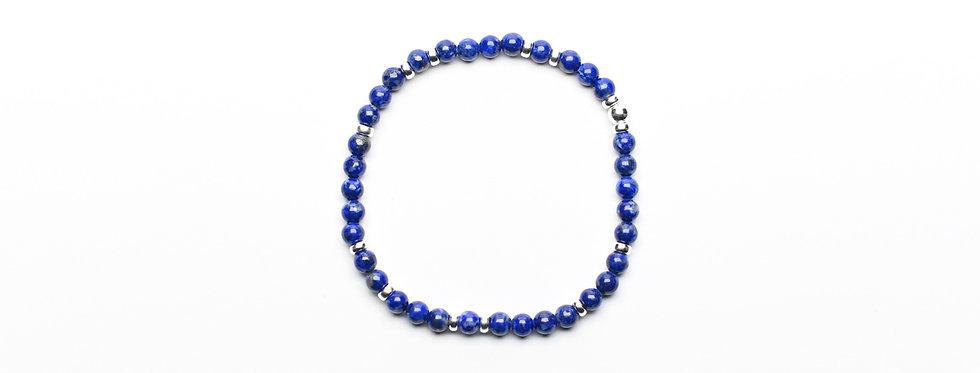 Lapis Lazuli Random Silver Bracelet