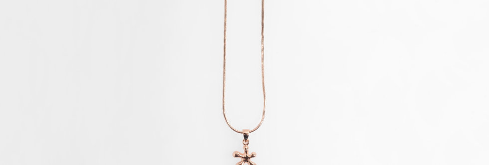 Rose Gold Plated Jasmine Flower Pendant on Chain