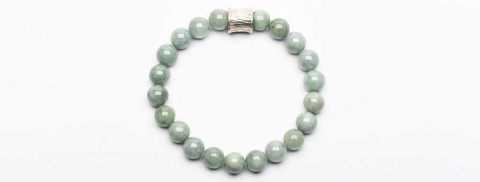Burma Jade Silver Ornament Bracelet