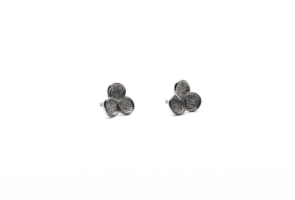 Black Rhodium Clover Leaf Earrings