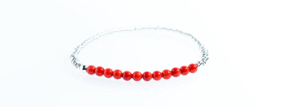 Coral Classic Silver Bracelet