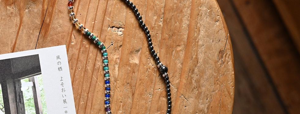 7 Chakra DOUBLE WRAP   Gemstones Silver Balancing & Concentration Bracelet