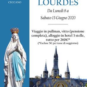 Pellegrinaggio a Lourdes 2020