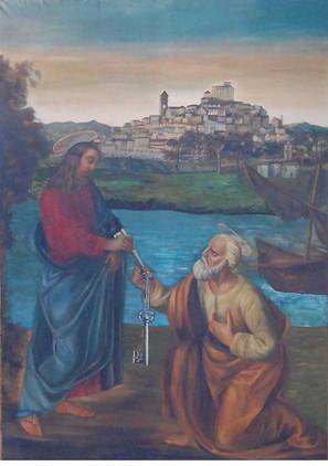 """La tela """"Gesù consegna le chiavi a S. Pietro"""""""