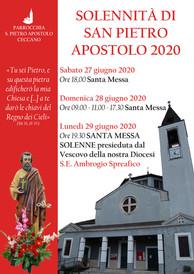 San Pietro Apostolo 2020