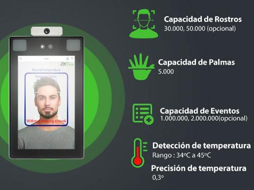 Biométrico de Control de Acceso y Temperatura Corporal