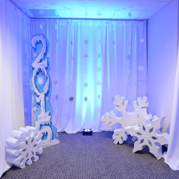 Winter Wonderland Corporate Event Bank of America