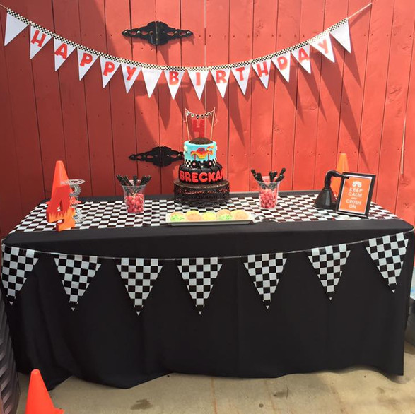 Monster truck party, pool Birthday Party Planning