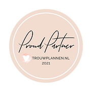 Trouwplannen Proud partner stempel 2021.