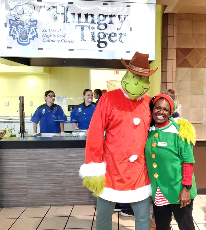 Grinch and Jacqui Clay at Culinary Chall