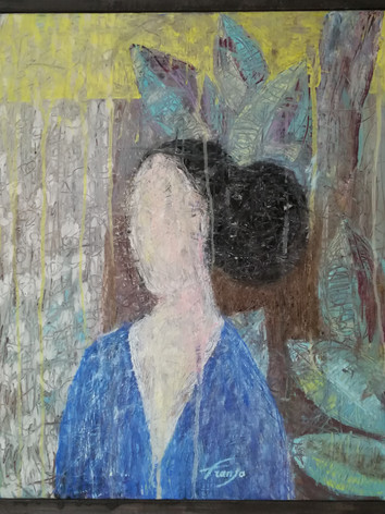 Femme à la veste bleue