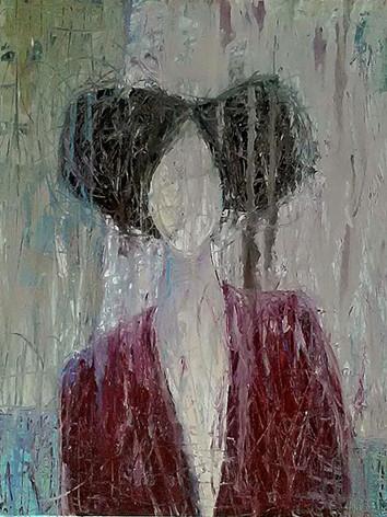 Portrait à la veste rouge