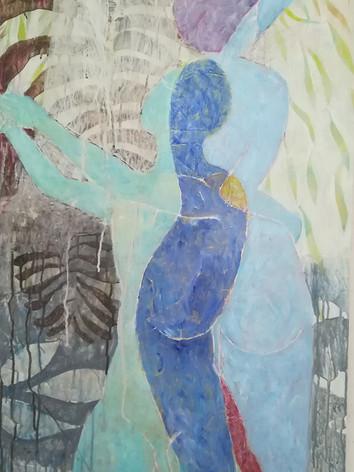 Couple en bleu