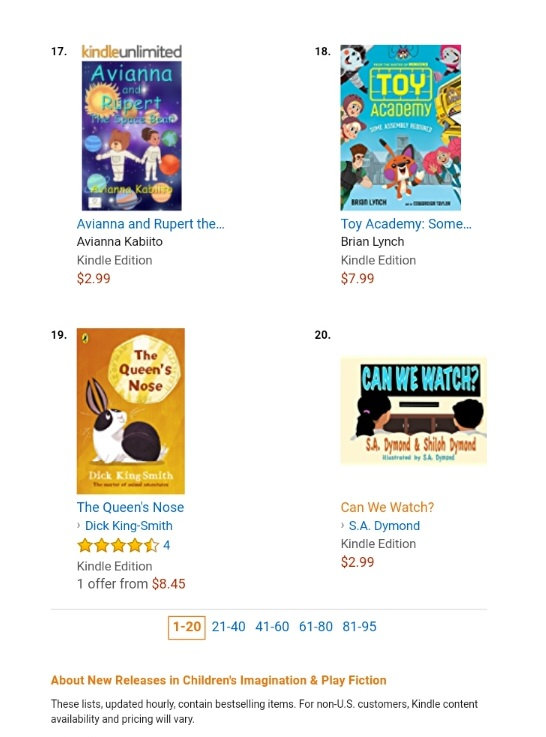 91fc64d76e562 Avianna and Rupert The Space Bear book rises to #17 in Amazon Hot ...