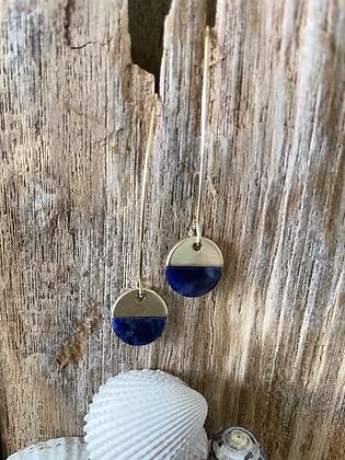 Golden Stone Drop Earrings