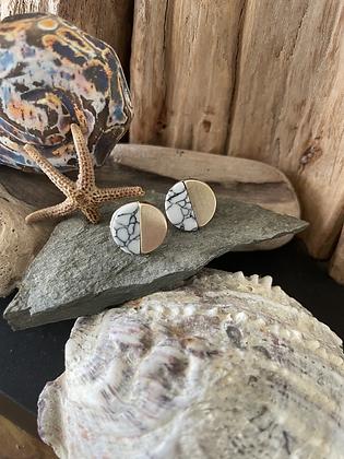 Contemporary Stone Studs