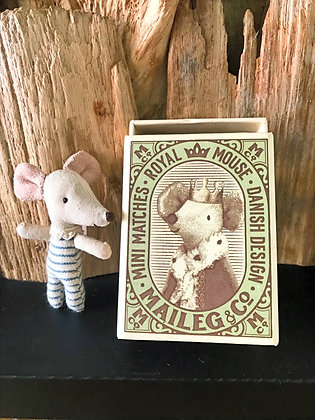 Sleepy Wakey Mouse in a Matchbox
