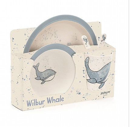 Wilbur Whale Bamboo Set by Jellycat