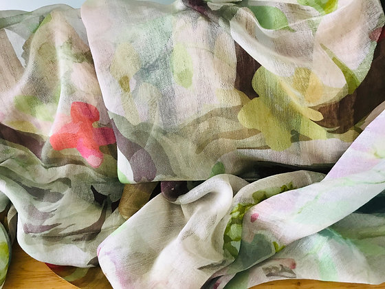 Watercolour Flowers Scarf