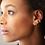 Thumbnail: Solder Dot Single Sterling Silver Ear Cuff