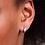 Thumbnail: Audrey Huggie Hoop Sterling Silver Earrings