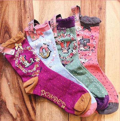 Powder Alphabet Socks (one pair...)